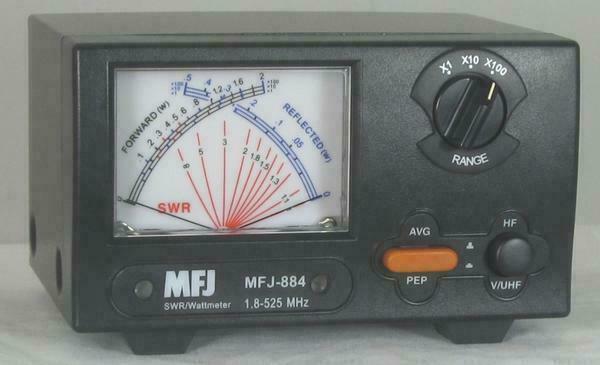 MFJ-884 r.w.antennastore MFJ-884 1.8-525 MHz - 200 W - Cross Needle SWR/Wattmeter