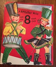 """Vintage Birthday Card """"A Birthday Wish for an 8 Year Old"""" NEW w/ envelope"""