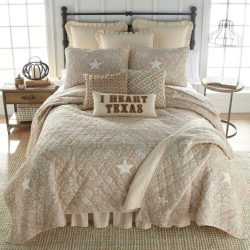 Details about  /Donna Sharp Texas Brown Bandana Quilt **TWIN** 2-PC Set Rustic Country Star New