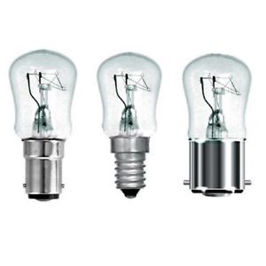 Branded 15 watt Pygmy Clear Glass Sign Lamps 240v Caps: SES // SBC // BC