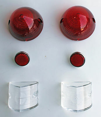 1956 Chevy 56 Bel Air Tail Light Lens KIT 6 pc One fifty Two Ten