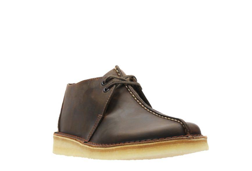 Clarks Originals Desert Trek Uomo Uomo Uomo Center Stitch Beeswax Leather scarpe 26113552 e253bb