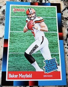 brand new 17840 7e3d4 BAKER MAYFIELD 2018 Donruss #1 Draft Pick 1988 RATED Rookie ...