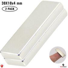 2pcs Strong 30x10x4mm Diy Office Neodymium N35 Rectangularbar Powerful Magnets