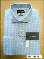 Mens formal work, Check shirts 100% cotton Double Cuff