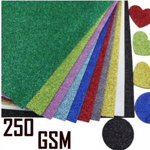 A4 Glitter  Card Coloured Premium Quality Low Non Shed 250gsm Crafts
