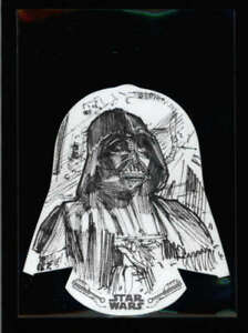 DARTH-VADER-TOPPS-STAR-WARS-A-NEW-HOPE-DIE-CUT-BLACK-AND-WHITE-SKETCH-AX4113