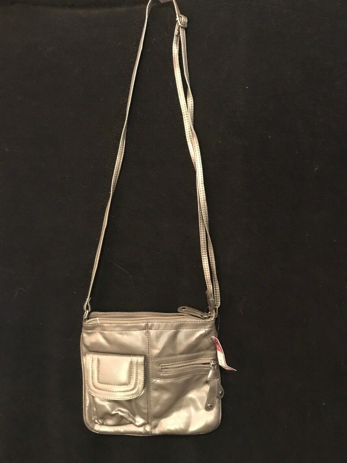 Merona By Target Gray Adjustable Strap Ladies Purse, Outer & Inner Pockets