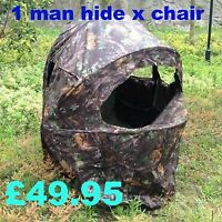 1 Man Shooting Hide Tent Blindchair Camo Pop Up Stalking Free Pp Best Price Ebay