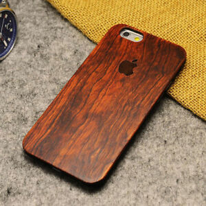 100% Natural Wooden Wood PC Phone Case For iPhone X XR XS MAX 5 SE 6 6S 7 8 plus