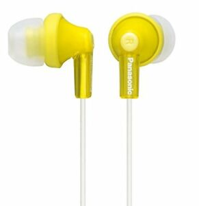 Panasonic-Canal-Earphone-Yellow-Free-Shipping-with-Tracking-New-from-Japan