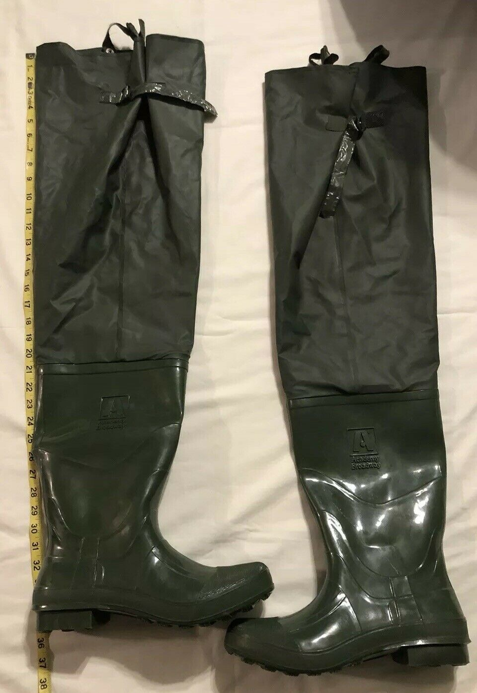 Academy Broadway O.D. Green  Waders Fishing Boots Sz 10  Wetha Guard Rainwear EUC  ultra-low prices