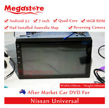 "7"" Quad-Core Non-DVD Navi GPS Car Pad Android 5.1 Head Unit For Nissan Universal"