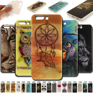 For-Huawei-Painted-Skin-Case-Soft-TPU-IMD-Back-Cover-Various-Silicone-Protective