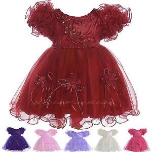 967ab1fdfebe girls wedding bridesmaid party dress maroon burgundy flowergirl ...
