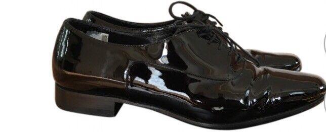 YSL Saint Shoes Laurent SLP Derby Black Patent Flat Shoes Saint S35.5 eaa84d