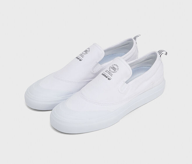 Adidas Original Matchcourt Slip-on F37386 Skateboarding Shoes White Sneakers