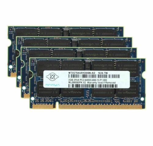 Lot Nanya 2GB 4GB 8G 2RX8 PC2-6400S DDR2 800 Mhz Laptop Memory RAM 200Pin SODIMM