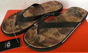 66f01a15aa5 Details about UGG Australia Bennison II Hawaiian Cork 1010633 Party Flip  Flops Sandals Men's 8