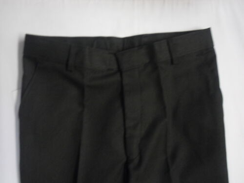 Mens Boys Black Skinny Leg Slim Fit School Trousers  Pants Adjustable Waistband