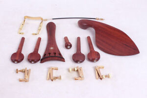 1set Violin Parts Rose Wood Peg Chinrest Tailpiece Endpin Violin Accessories 15 Ebay