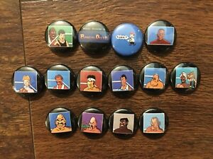 Mike-Tyson-039-s-Punch-Out-Character-14-PIN-COLLECTORS-SET-Nintendo-NES-Tyson-Retro