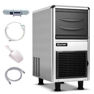 Stainless-Steel-Commercial-Ice-Maker-110lbs-24h-Freestanding-Restaurant-Bar-New