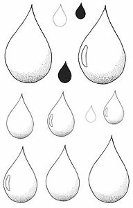 Raindrops-Unmounted-Rubber-Stamps-6063