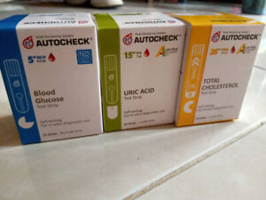 AUTOCHECK-GLUCOSE-CHOLESTEROL-URIC-ACID-Blood-Test-Strips-ED-2020