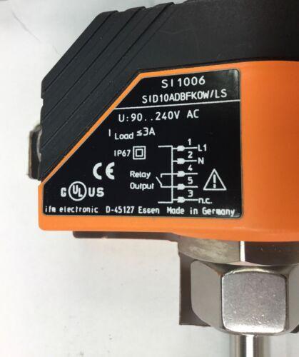 EFECTOR MODEL SI8513 FLOW SENSOR KIT SI1006 E40107 E18247 90-240VAC NEW IN BOX