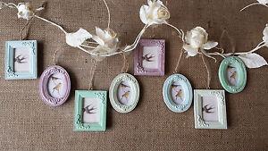 vintage chic mini photo frames pastel colours wedding - Mini Photo Frames