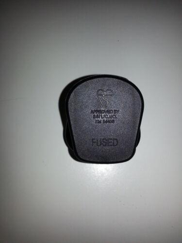 UK 13 A Noir Secteur Plug 13 Amp 3 broches appareil Fuse Power Cliquez