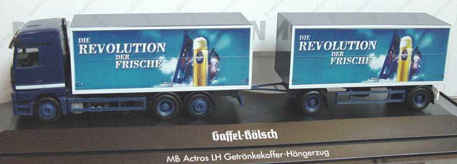 1 87 Mercedes-Benz Actros LH Hängerzug Gaffel Kölsch Die Revolution der Frische  | Billiger als der Preis