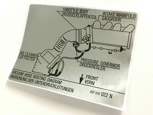 MK2 Golf GTI 16v Hose Routing Diagram Sticker Decal 037010022N, Vw
