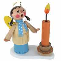 Mini Angel Singing Wooden Candle Girl Made In Germany Incense Burner Smoker
