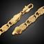 18k-Gold-Kette-Armkette-21cm-Schmuck-Koenigskette-Armband-Herren-Damen-vergoldet Indexbild 2