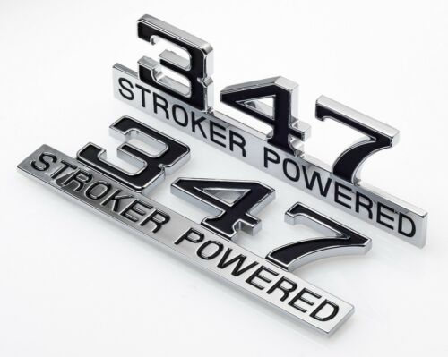 347 Stroker Power Badge Emblems Mustang 302 Windsor 1971 1972 1973 71 72 73 Ford