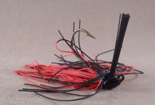 Bass Fishing Lure Pink Black DR Custom Flipping Jig 1//4 oz FJ-23 Black