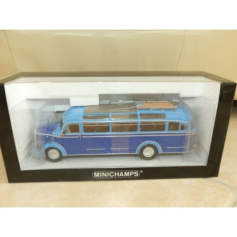 MERCEDES O 3500 BUS 1954 Bleu MINICHAMPS 1 43
