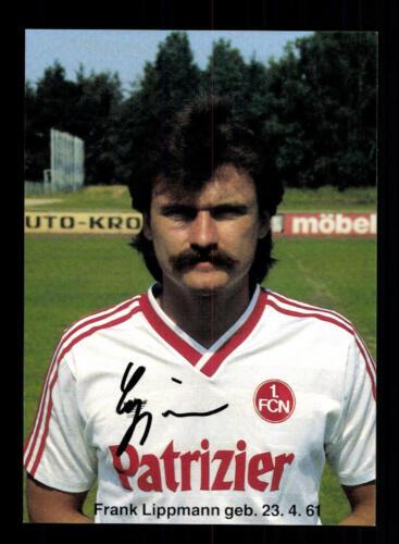 A 195986 Frank Lippmann Autogrammkarte 1 FC Nürnberg 1986-87 Original