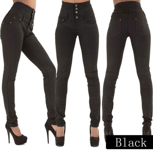 Da Donna con vita alta Blu Jeans Skinny Fit Stretch Denim Taglia 6-16 LTR2