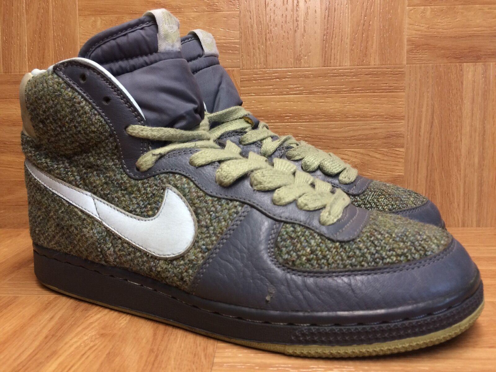RARE! Nike Terminator Hi Harris Tweed Flint Gray Glacier Blue Faded Green Sz 8