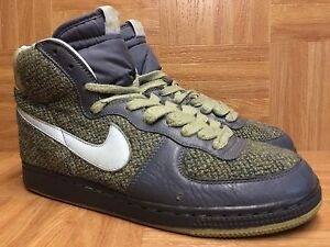 new concept 99963 4319a Image is loading RARE-Nike-Terminator-Hi-Harris-Tweed-Flint-Gray-