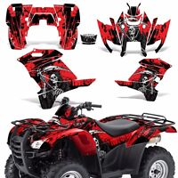 Graphic Kit Honda Rancher 420 Atv Quad Decals Sticker Wrap Parts 07-13 Reap Red