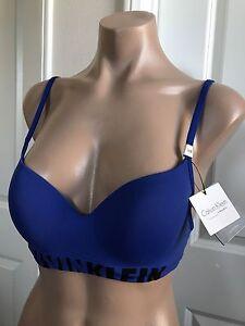 Calvin Klein Woman Stretch-jersey Underwired Bra Royal Blue Size 36 B Calvin Klein Visit Sale Online 36RsVtBt