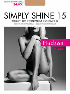 "2er Pack: Hudson ""Simply Shine 15"" Strumpfhose transparent schimmernd"
