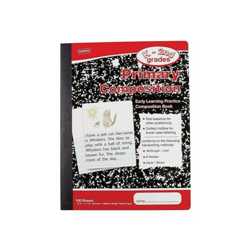 """Staples Primary Composition Book 9 3//4/"""" x 7 1//2/"""" 12 pack 2072492"""