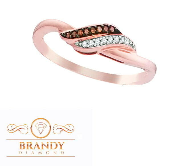Brandy Diamond® Chocolate Brown 10K gold Absolutely Beautiful Ring .07Ct