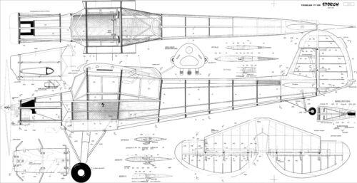 SVENSON Fieseler storch Fi156 R//C SCALE PLANS