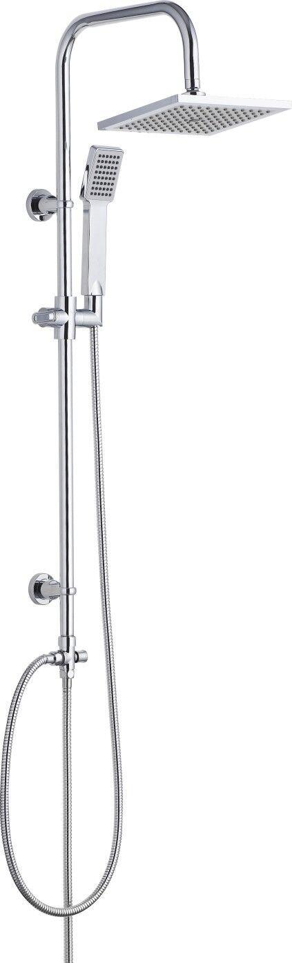 Rail de douche exposés fixe avec tête de douche 200mm et mains tête libre